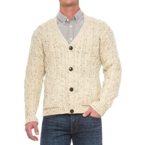 JGグローバー メンズ トップス カーディガン【Peregrine by J.G. Glover Aran V-Neck Cardigan Sweater - Wool】Aran Nep