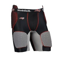 Riddell Power BK Girdle (Black/カーボン/Red, X-Large) (海外取寄せ品)