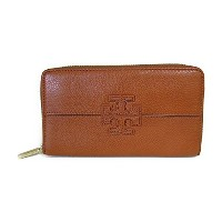 トリーバーチ 長財布 Stacked T Zip Continental Wallet(Vintage Vachetta) Tory Burch【並行輸入品】