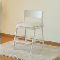 ISSEIKI 学習チェア ダイニング 子供 椅子 キッズ イス チェア 木製 アルダー 無垢 (ホワイト) FIORE DESK CHAIR (WH/WH)