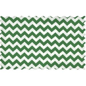 SheetWorld Forest Green Chevron Zigzag Fabric - By The Yard by sheetworld