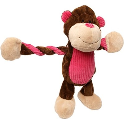 Charming Pet Products Pulleez Monkey Plush Dog Toy by Charming