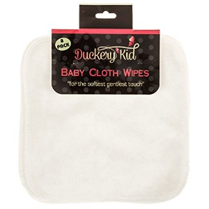 Bamboo Baby Washcloths - Cloth Wipes Set By Duckery Kid by Duckery Kid