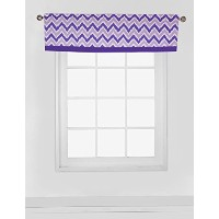 Bacati Mix and Match Zigzag Ikat Window Valance, Purple by Bacati