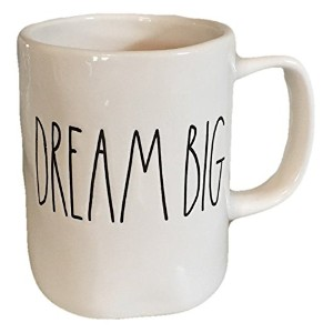 Rae Dunn byマゼンタDream Big IN LARGE ETCHED Letterコーヒーティーマグ