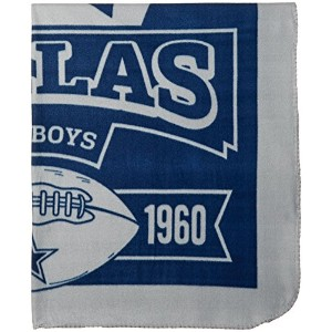 Officially Licensed NFL Marquis Fleece Throw Blanket - Dallas Cowboys by Northwest