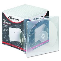Slim CD Case, Clear, 25/Pack (並行輸入品)