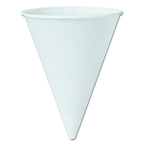 Solo Paper Cone Water Cups, 4 1/4 oz , White (670-42BR-2050) Category: Cone Cups by Unknown