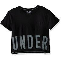 Under Armour Girls ' Studio半袖Tシャツ グレー