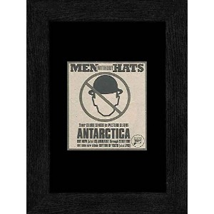 Men Without Hats - Antarctica Framed Mini Poster - 20x18cm