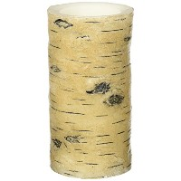 """Candle Impressions Realワックス6"""" LED Flameless Birch Barkピラー"""