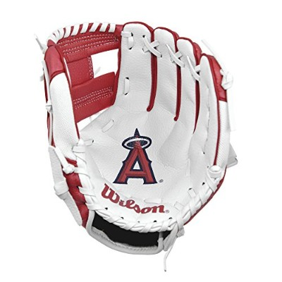 (Los Angeles Angels) - Wilson A200 Youth MLB 25cm Tee Ball Glove in Team Logo Designs, All...