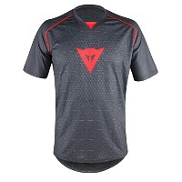 DAINESE(ダイネーゼ) RIDING JERSEY SS 606-BLACK/RED S 3899532 ブラック S