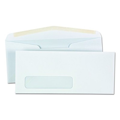 Window Business Envelope, V-Flap, #10, White, 500/Box (並行輸入品)