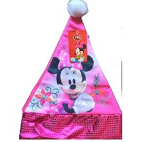 Disney Minnie Mouse Santa Hat with Sequins Finishing onジャージー素材