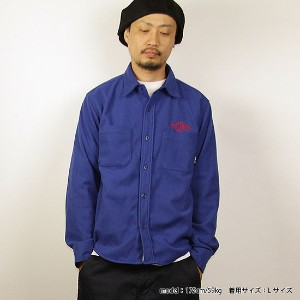 CUT-RATE(カットレイト) 長袖シャツFLEECE L/S PLANE SHIRT(BLUE) ●SHT CUT-RATE(カットレイト)2017秋冬171125