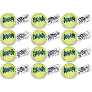 KONG Air Dog Squeaker Tennis Ball Large 12pk by KONG [並行輸入品]