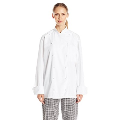 Uncommon Threads 0481-2505 Barbados Chef Coat in White - XLarge
