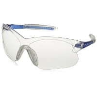 Crews Glasses 135-DC220 Deuce Safety Glass with Blue Temple, Clear Lens, Anti-Fog, Small by CREWS...
