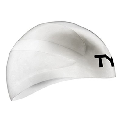 TYR(ティア) スイムキャップ Wall-BREAKER RACING SILICONE CAP LCWBRKR ホワイト XS-S