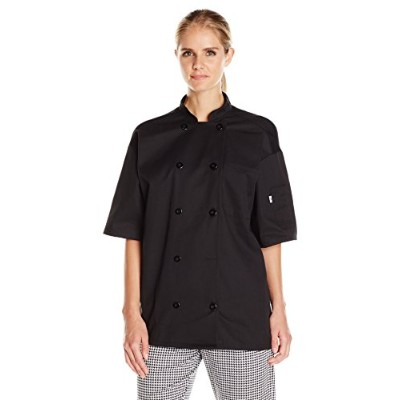 Uncommon Threads 0429-0105 Montego Chef Coat in Black - Xlarge