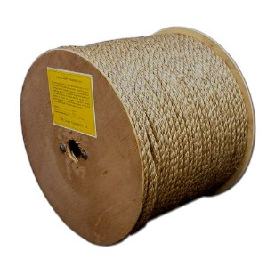 T.W. Evans Cordage 25-033 .375 in. x 300 ft. Pure Number 1 Manila Rope Reel