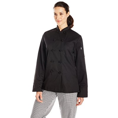 Uncommon Threads 0490-0101 Sedona Chef Coat in Black - XSmall