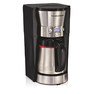 Hamilton Beach 46896A 10 Cup Coffee Maker with Vacuum Stainless Thermal Carafe, Black [並行輸入品]
