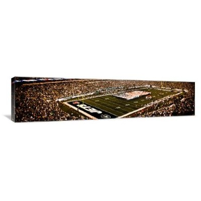 Meadowlandsスタジアム、NY Jets and Giants Print OnギャラリーWrappedキャンバス壁アート 60x15 2464-AC