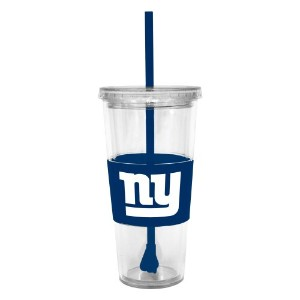 NFLニューヨークジャイアンツLidded Cold Cup with Straw