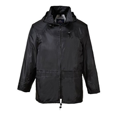 Portwest US440BKRXXXL Regular Fit Classic Rain Jacket44; XXXL - Black