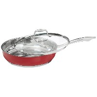 KitchenAid KCS35ELER Stainless Steel 3.5-Quart Saut? with Lid Cookware - Empire Red [並行輸入品]