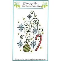 """Class Act Cling Mounted Rubber Stamp 3.25""""X5.5""""-Ornaments (並行輸入品)"""