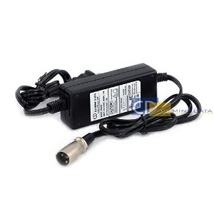 Coming Data 24V 1.5A Scooter Charger Power Supply w/ XLR 3-prong Male Connector for Bladez, Currie,...