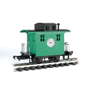 Bachmann Industries Li'L Big Haulers Caboose Short Line G-Scale Railroad with Green/Black Roof,...