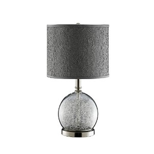 Stein World 947328 Watt Clear Glass Accent Lamp Room With Wire Filled Globe and Polished Chrome...