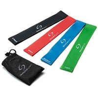 #1 Best Resistance Loop Bands - Exercise Bands Set of 4 - Great for Improving Mobility, Strength,...