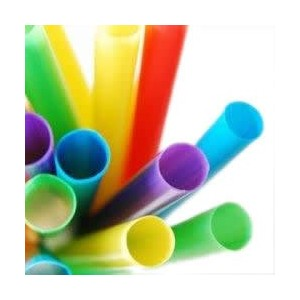 Assorted Colors 50-pc Bubble Tea Smoothie Straw by Jed Mart