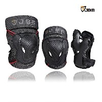 JBM Youth BMX Bike Knee Pads and Elbow Pads with Wrist Guards Protective Gear Set for Biking,...