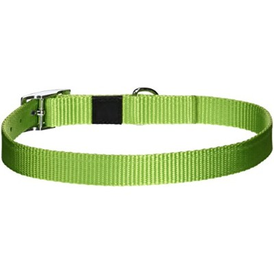 Dogit Nylon Single Ply Dog Collar with Buckle, Large, 22-Inch, Green by Dogit