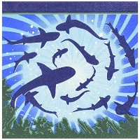 Shark Party Beverage Napkins ( 16パック) – パーティーSupplies