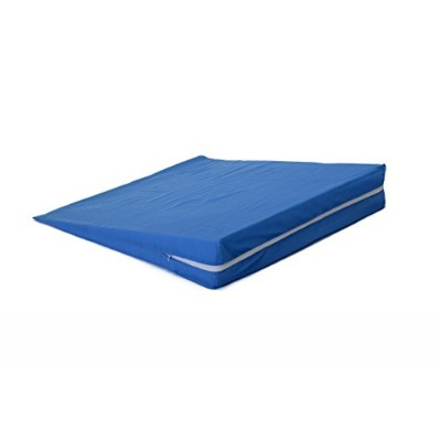 Hermell Products Foam Slant with Blue Polycotton Zippered Cover, 4-Inch by Hermell Products, Inc.
