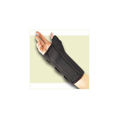 FLA Professional Wrist Splint with Abducted Thumb. Black. X-Large. Right by Florida Orthopedics