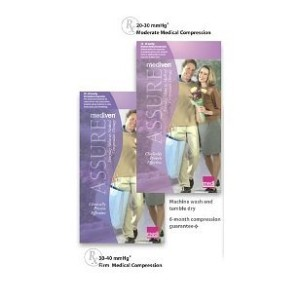 Mediven Assure, Closed Toe, Extra Wide, 30-40 mmHg, Knee High Compression Stocking, Beige, Large by...