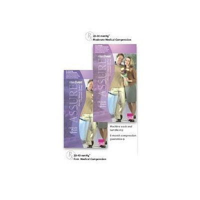 Mediven Assure, Closed Toe, Extra Wide, 20-30 mmHg, Knee High Compression Stocking, Beige, X-Large...