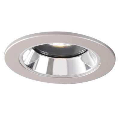 Halo Recessed 4-inch Lensed Showerlightホワイトトリムwithクリア鏡面Splay Reflector 198 1951SNS 1