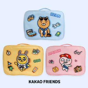 【Kakao friends】カカオフレンズトラベルポーチ(L)/Kakao friends travel pouch(L)/3種・370X270X120㎜
