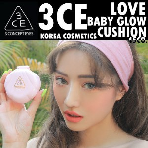 [3CE/韓国化粧品/韓国コスメ]LOVE 3CE BABY GLOW CUSHION