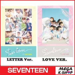 SEVENTEEN - FIRST LOVE&LETTER[1STアルバム][LOVE Ver.LETTER Ver選択][ブックレット148P+はがき3種セット+切手ステッカーセット+フォトカード]