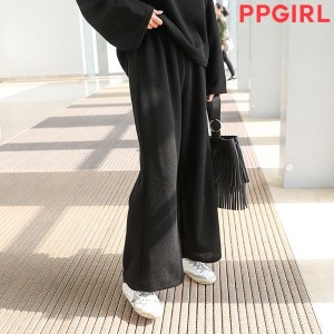 送料 0円★PPGIRL_A753 Daily Pants Bending Pants Slacks Wide Pants Trousers